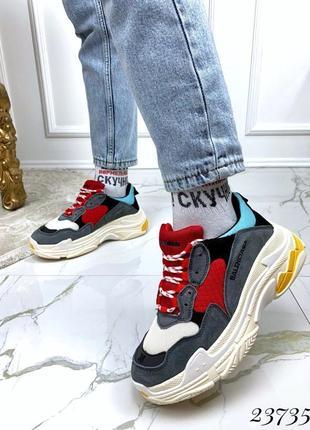 Молодежные кроссовки из натуральной замши
