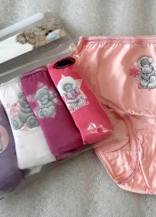 Набор трусиков  с мишкой тедди для модниц 2-8 лет из англии