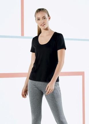 Функциональная спортивная футболка s 36-38 euro, crivit, германия, черная