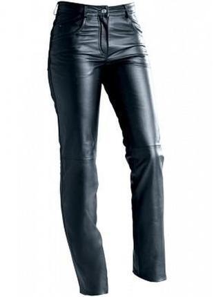 Высокие кожаные брюки 100% натуральная кожа высокая посадка