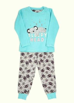 Флисовая пижамка dunnes stores девочкам на 2-3,7-8,8-9 лет