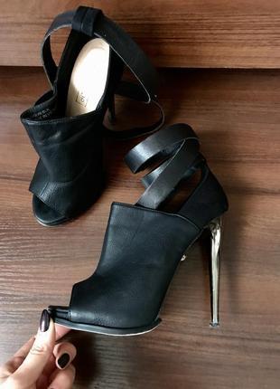 Туфли, ботильоны с открытым носком, каблуки top shop, небольшой торг