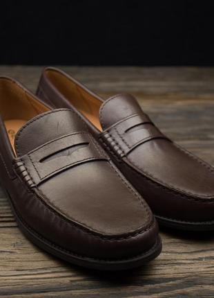 Мужсие туфли коричневые лоферы слипоны geox damon 2 marron оригинал