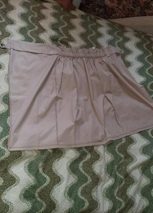 Яркая юбка на запах миди тренд высокая посадка талия4 фото
