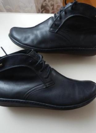 Кожаные деми ботинки clarks gore-tex 7,5р 27см