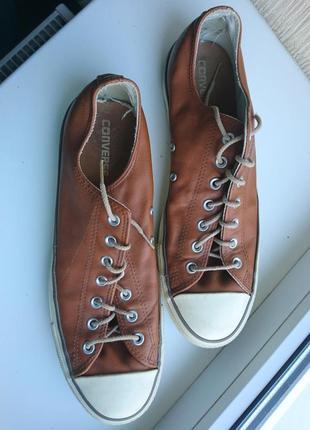 Converse кожанные кроссовки кеды р47-48 стелька 31.5-32см