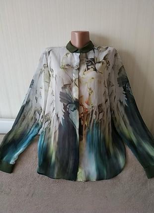 Блузка с длинными рукавами, р 12, идеальное состояние