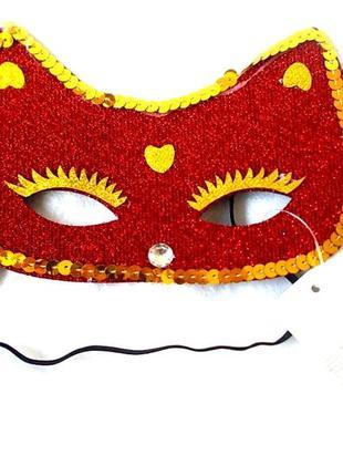 Распродажа sale маска карнавальная кошечка – новая красного цвета