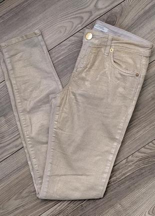 Брендовые скинни брюки джинсы
