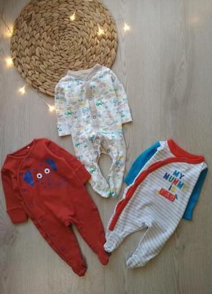 Стильный набор человечков на новорожденного малыша 0-1мес. 50-56см. next