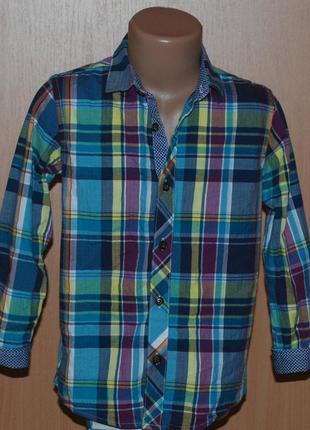 Рубашка на мальчика бренда debenhams /100%cotton/