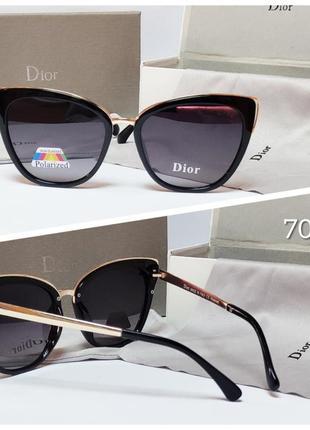 Женские очки черные солнцезащитные