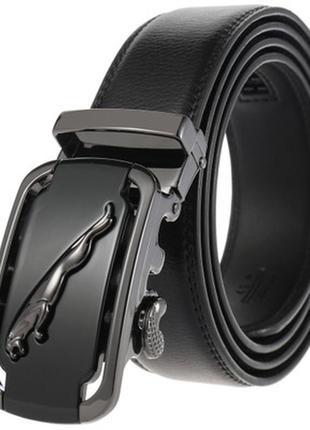 Мужской кожаный ремень автомат (ly-36-3286) черный 110 - 130 см