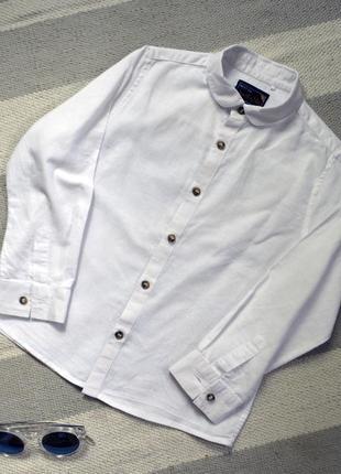 Стильная белая рубашечка от next на 5-6 лет