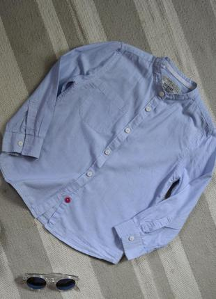 Актуальная рубашечка в полоску на 5-7 лет