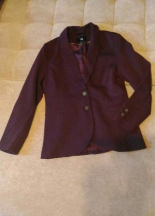 Пиджак h&m цвета марсала,р.10-12