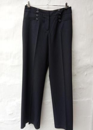 Новые широкие элегантные брюки палаццо в полоску,офисные.