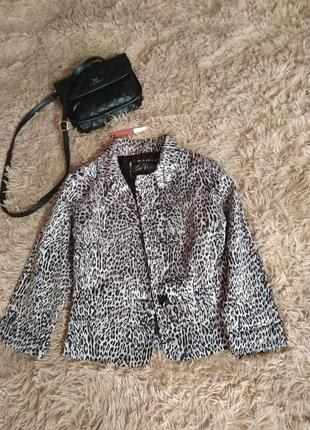 Модный, стильный жакет пиджак тренд принт леопард гепард- m