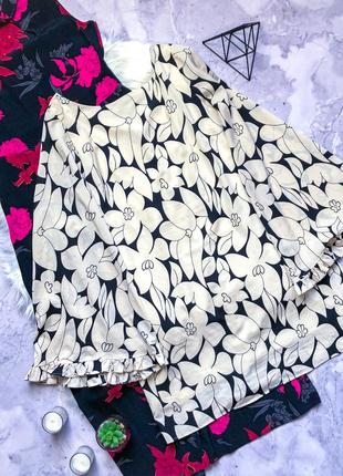 Красивенное платье свободного кроя в цветы