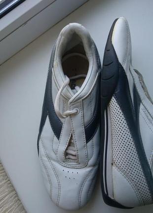 Diadora кожаные кроссовки uk 6, стелька 25-25.5си