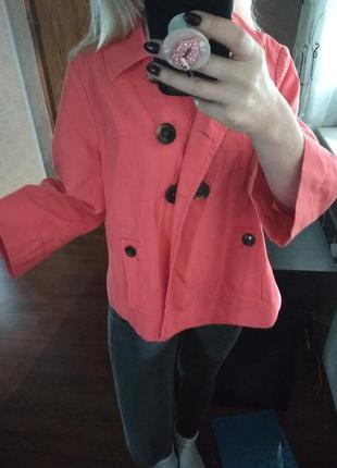 Фирменный абалденный цвет жакет пиджак  блейзер-m l5 фото