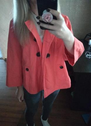 Фирменный абалденный цвет жакет пиджак  блейзер-m l6 фото