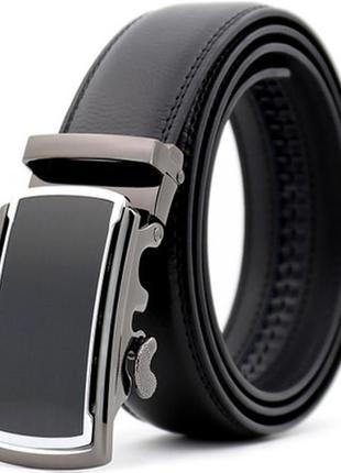 Мужской кожаный ремень автомат (ly88951) черный 110 - 130 см