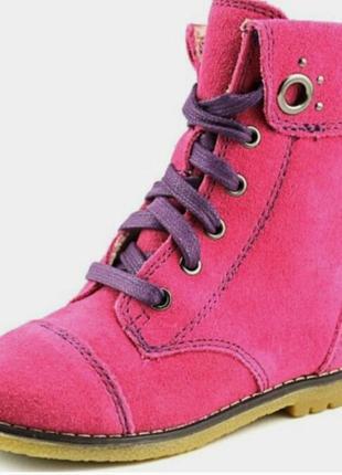Стильные замшевые демисезонные ботинки с мягкой подошвой и ортопедической стелькой