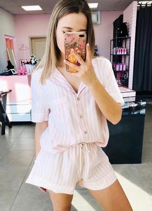 Фланелевая пижама пижамка виктория сикрет оригинал