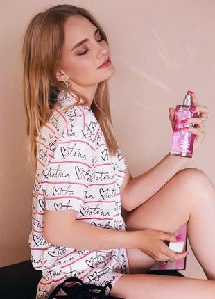 Сатиновая атласная пижама пижамка виктория сикрет оригинал