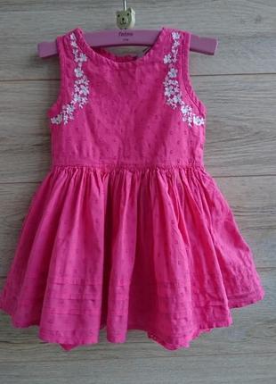 Платье george батистовое 1-1,5 года
