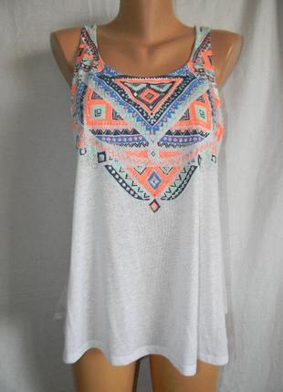 Новая блуза маечка с принтом