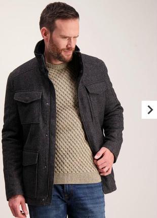 Мужское пальто, натуральная шерсть