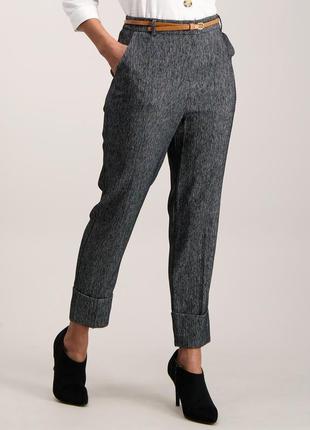 Стильные укороченные брюки в ёлочку на весну