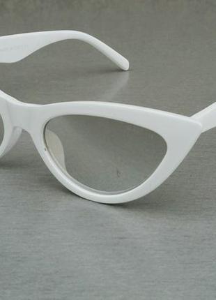 Celine очки кошечки женские солнцезащитные белые зеркальные
