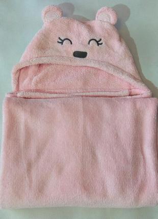 Светло-розовый плед carter's с мишкой