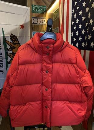 Ультралегкий пуховик eddie bauer women's cirruslite down puffer jacket cardinal