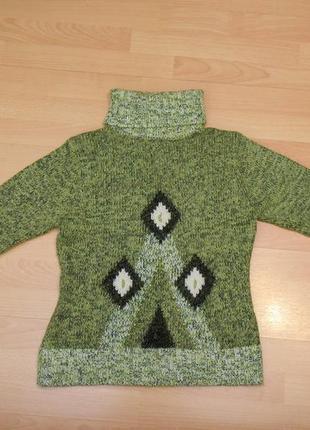 Шерстяной свитер с ромбами