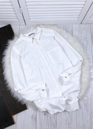 Хлопковая рубашка m&s