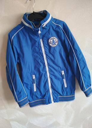 Куртка ветровка синяя весенняя tu