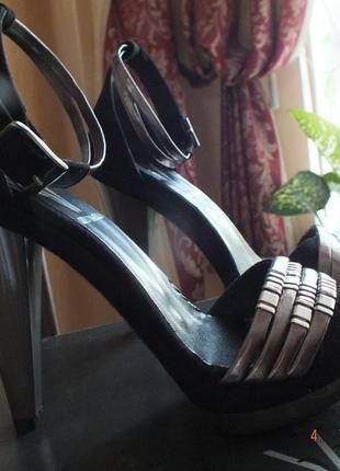 Босоножки gino vaello, испания, 36 размер, натуральная замша
