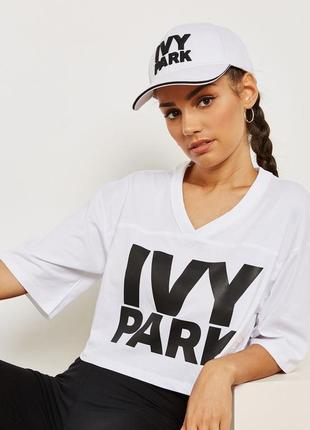 🌿 укороченная футболка с лого от ivy park оригинал!