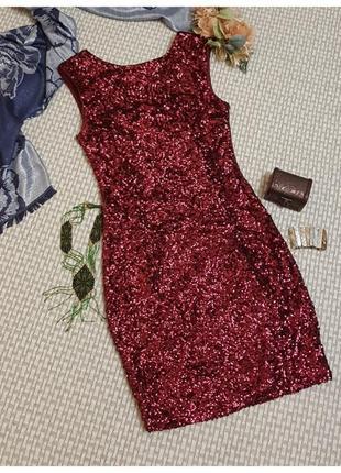Короткое платье в паетку new look/мини платье