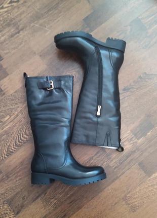 Новые высокие сапоги немецкого премиум бренда joop! кожа протекторная подошва