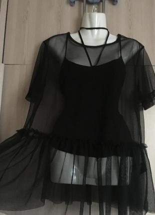 Блуза-топ сетка  от h&m