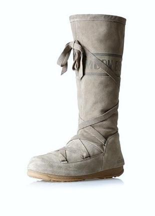 Оригинал! moon boot - высокие сапоги/ботфорты/мунбут/снегоходы/луноходы замша 41(27см)