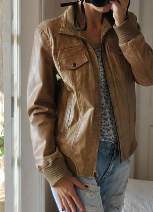 Кожаная куртка maddison / шкіряна куртка
