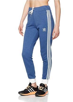 Спортивные штаны треники на высокой посадке талии с манжетами на зеринке
