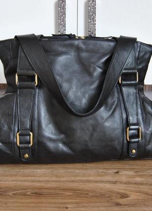 Кожаная большая сумка / шкіряна сумка