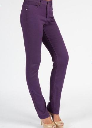 Брендовые женские фиолетовые коттоновые джинсы new look yes yes камбоджа этикетка